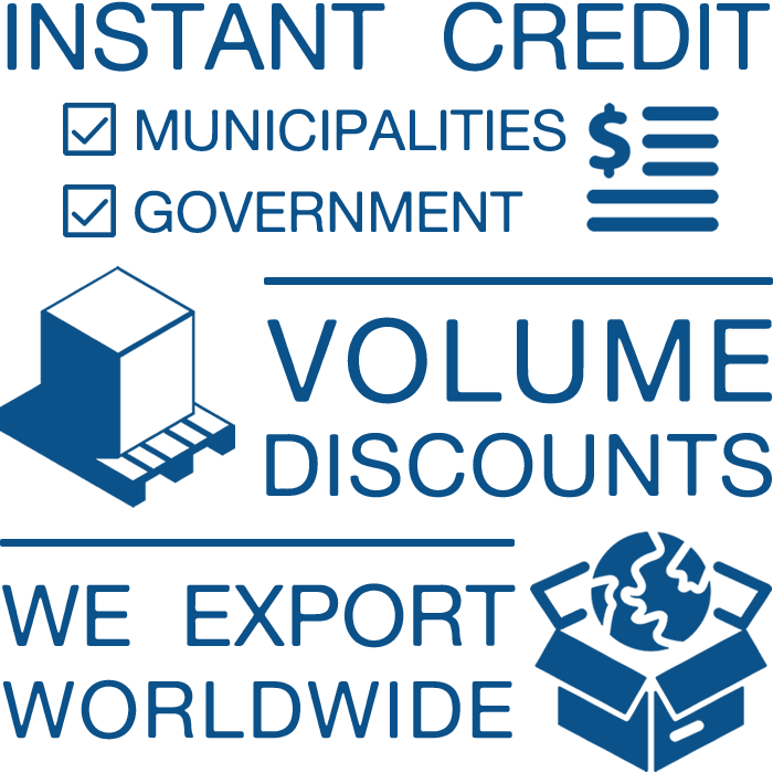 Instant Credit For Government Bodies, we export, Bulk discounts