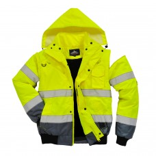 Bomber Jacket 3 in 1 High Visibility with Contrast Class 3