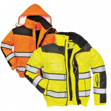 Classic Bomber Jacket High Visibility with Contrast 3 in 1 Class 3
