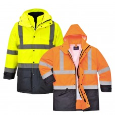 High Visibility Executive 5 in 1 Traffic Jacket Class 3