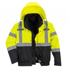 Premium Bomber Jacket 3 in 1 High Visibility with Contrast Class 3