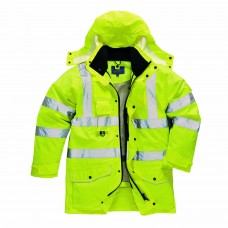 High Visibility Breathable 7 in 1 Traffic Jacket Class 3