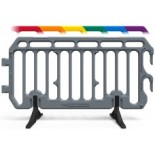 Plastic Crowd Control Barrier 6.5ft  - The Start Barrier