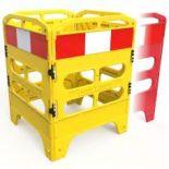 Manhole Guard - Heavy Duty Folding 4 Gate Barricade Rail System