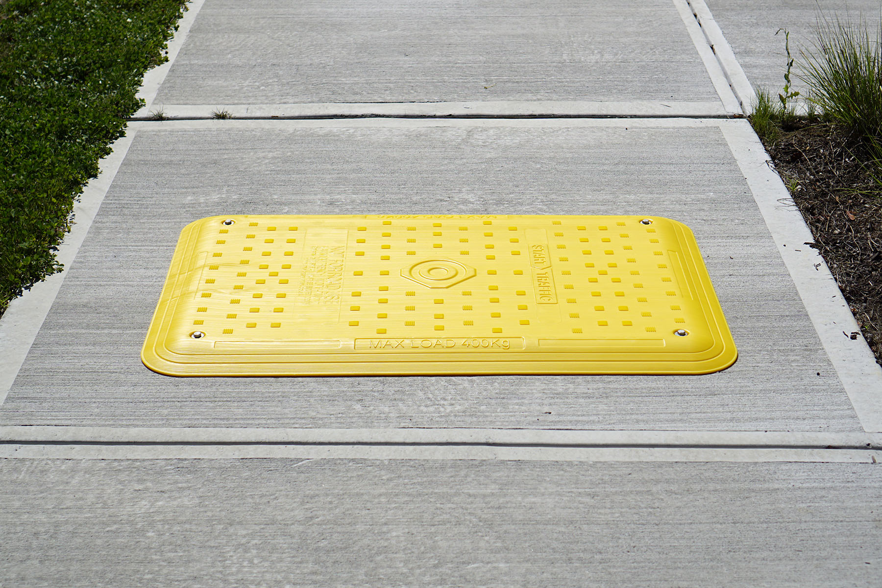 Plastic Road Plates Pedestrian Sidwalk Hole Cover Tuff Trench