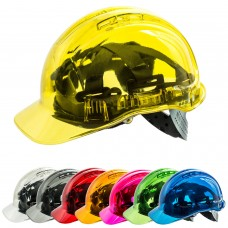 Peak View Translucent Hard Hat Adjustable Size