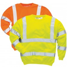Hi-Viz Yellow or Orange Work Sweater ANSI 3