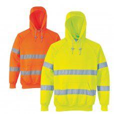 Hooded Sweater Hi-Viz Yellow or Orange - Hoodie