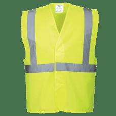 Hi-Vis One Band & Brace Velcro Fasten Vest
