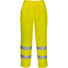 Hi-Viz Polycotton Work Pants With Reflective Banding