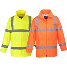 Value  Hi-Vis Rain Jacket With Hood ANSI Class 3