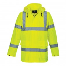 Lightweight Hi-Vis Traffic Jacket Mesh Lined With Reflective Strips