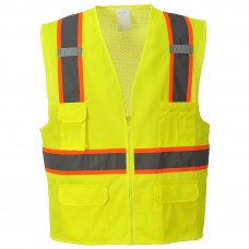 Hi-Vis Jackson Contrast Triple Trim Executive Vest