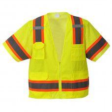 Hi-Vis Aurora Sleeved Contrast Triple Trim Vest