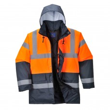 Padded Quilt Lined Contrast Traffic Jacket High Visibility Class 3
