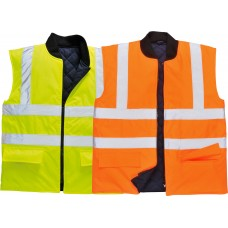Reversible Bodywarmer Vest High Visibility Class 2