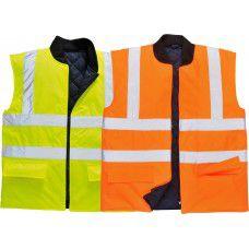 Reversible Bodywarmer Vest High Visibility Class 2