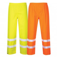Hi-Viz Traffic Pants Waterproof With Silver Banding