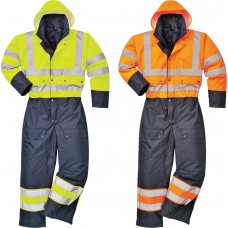 Lined Coverall Class 3 Hi-Vis Contrast With Padding