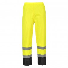 Classic Hi-Viz Rain Pants With Black Contrast
