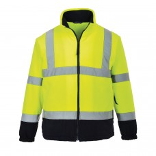 Hi-Viz Fleece With Contrast Wind Resistant & Warm