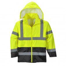 Classic Hi-Viz Contrast Rain Jacket With Contrast ANSI Class 3