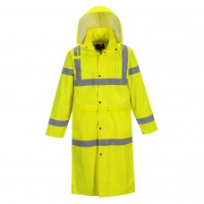"Classic Rain Coat 48"" Hi-Visibility Ansi Class 3"