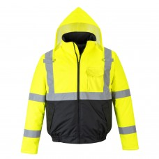 High Visibility Padded Value Bomber Jacket Class 3