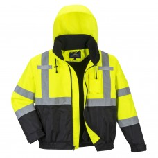High Visibility Bomber Jacket With Fleece Liner 2-in-1 Class 3