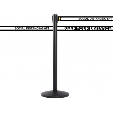 Social Distancing Retractable Belt Line Barrier - 13'