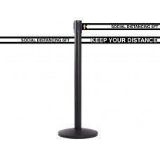 Social Distancing Retractable Belt Line Barrier - 13'