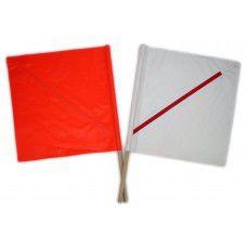 Yodock Aerocade Flags - Orange & White Pair