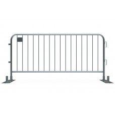 Metal Crowd Barricade 7.5 foot - Anti-Trip Space Saving Barrier