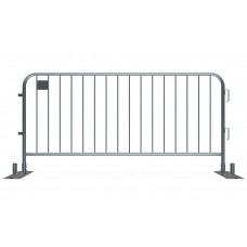 Metal Crowd Barricade 7.5 foot - Anti-Trip Space Saving Barrier