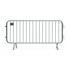 Metal Crowd Barricade 7.5 foot - Fixed Leg Foot Barrier