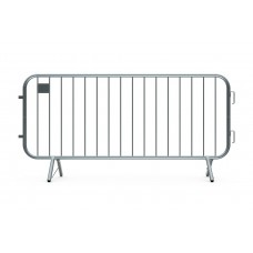 Metal Crowd Barricade 7.5 foot - Fixed Leg Foot Barrier