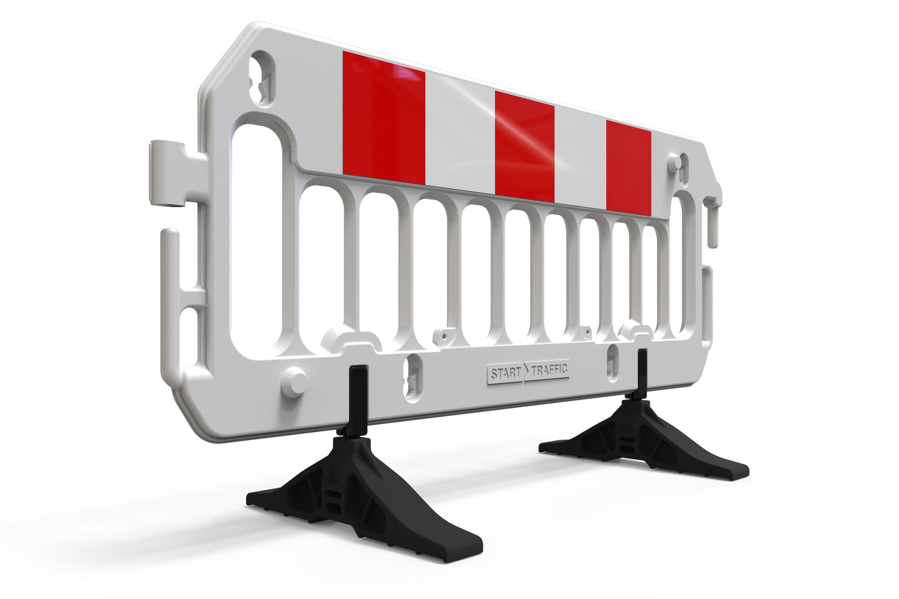 Straight on shot Tuff-Foot Feet on ExtraVision Barrier
