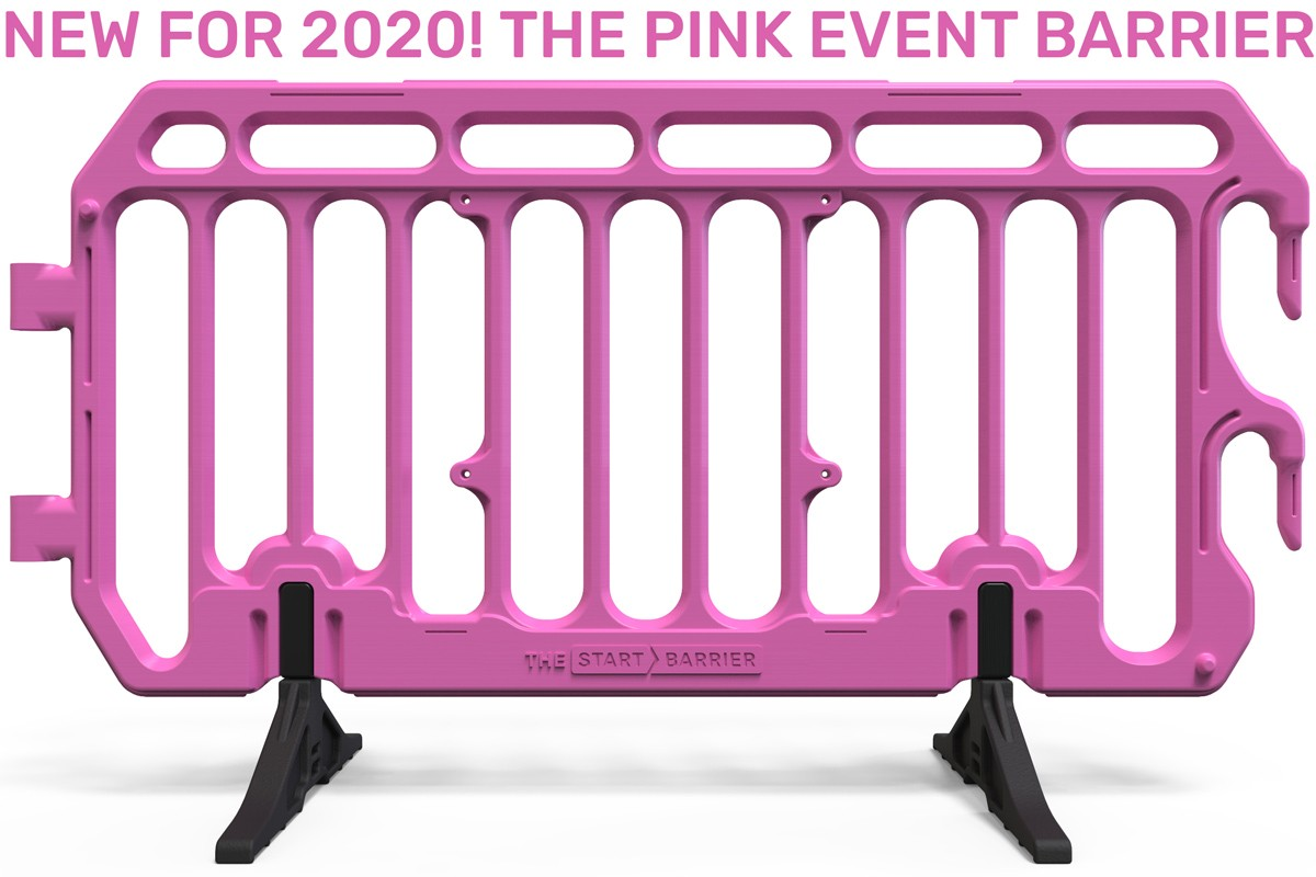 Pink Plastic Barrier for Events