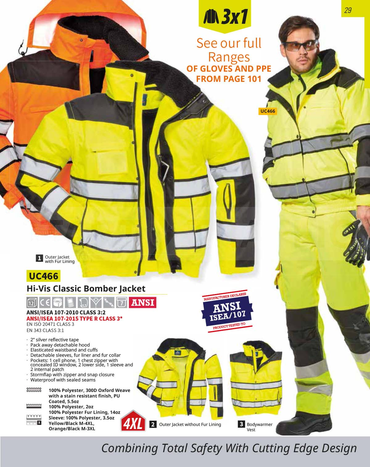 UC466 High Vis Bomber Jacket