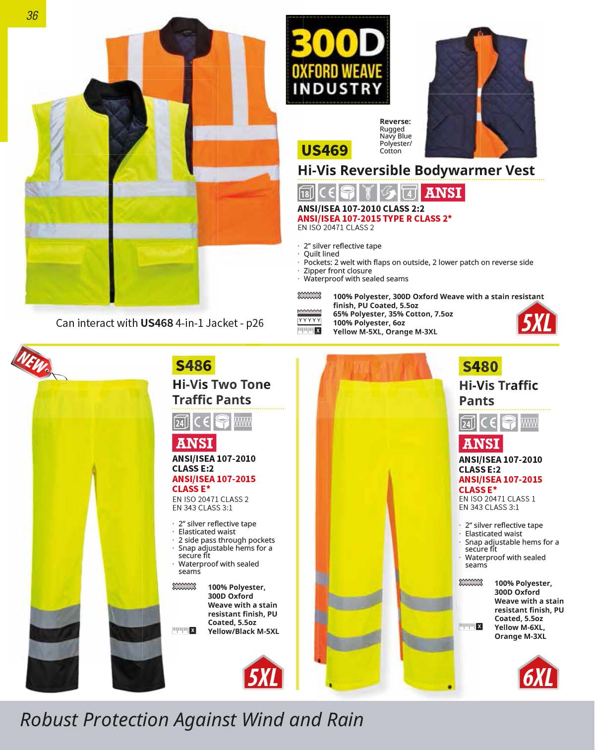 S480 High Vis Traffic Pants