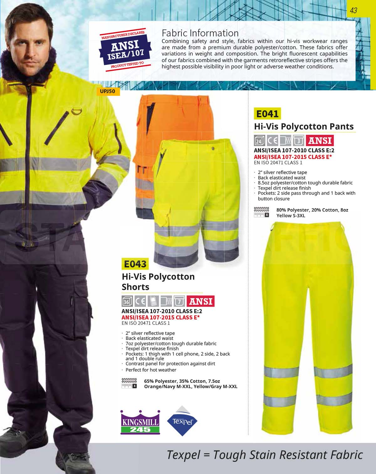 E041 Polycotton Work Pants