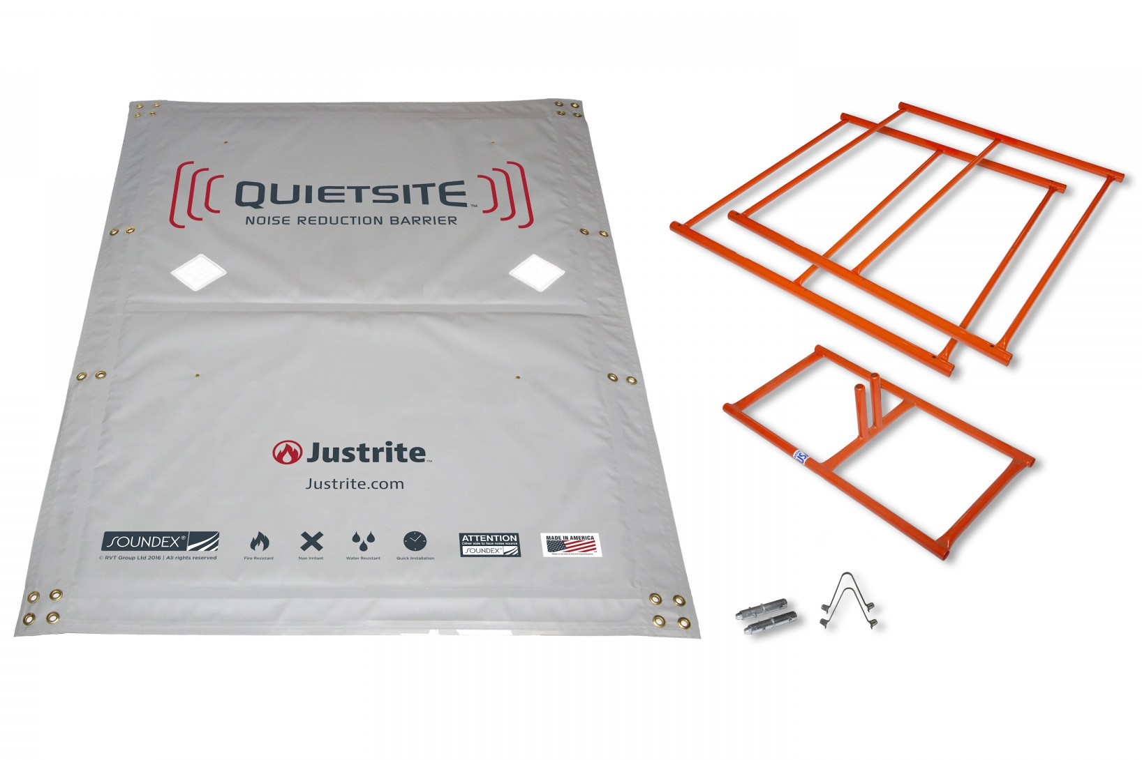 Picture of QuietSite Barrier Kit Components