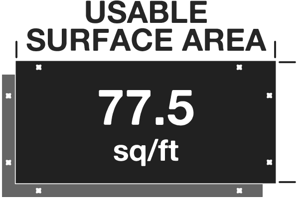 TuffTrak XL+ Sqft
