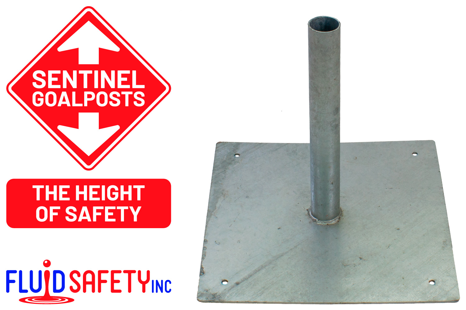 Red Telescopic Poles and Bunting for Height Restrction Barriers