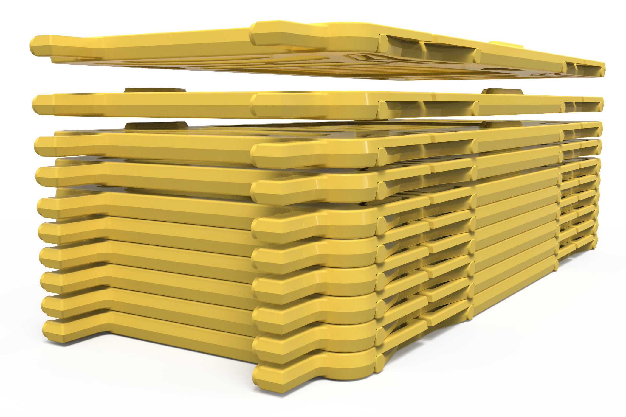 Stacking Crowd Control Barriers on a pallet