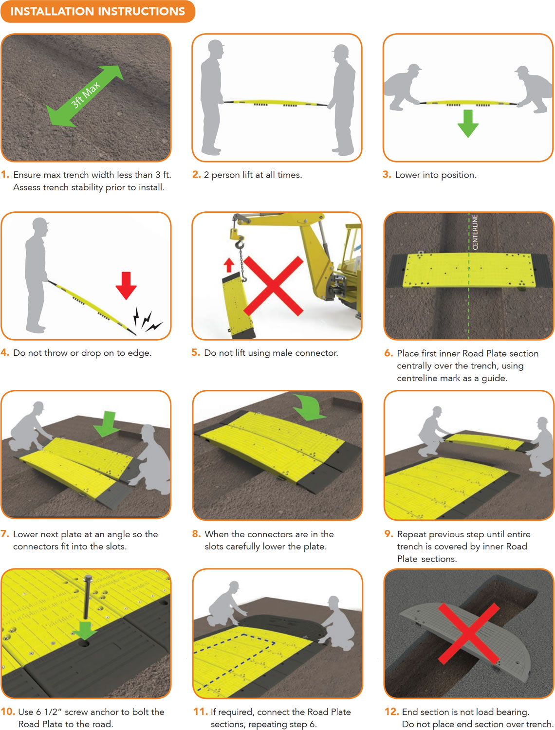 Instructions on how to install Oxford Low Pro 23/05 Road Plate