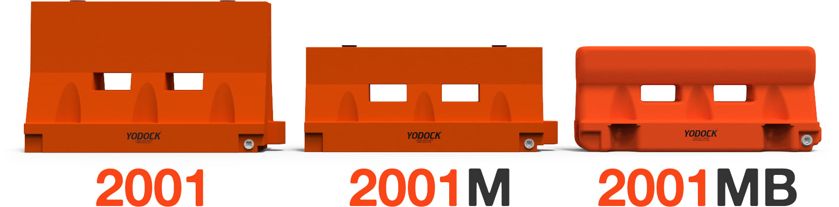 Yodock Barrier Comparison Features 2001, 2001M, 2001MB