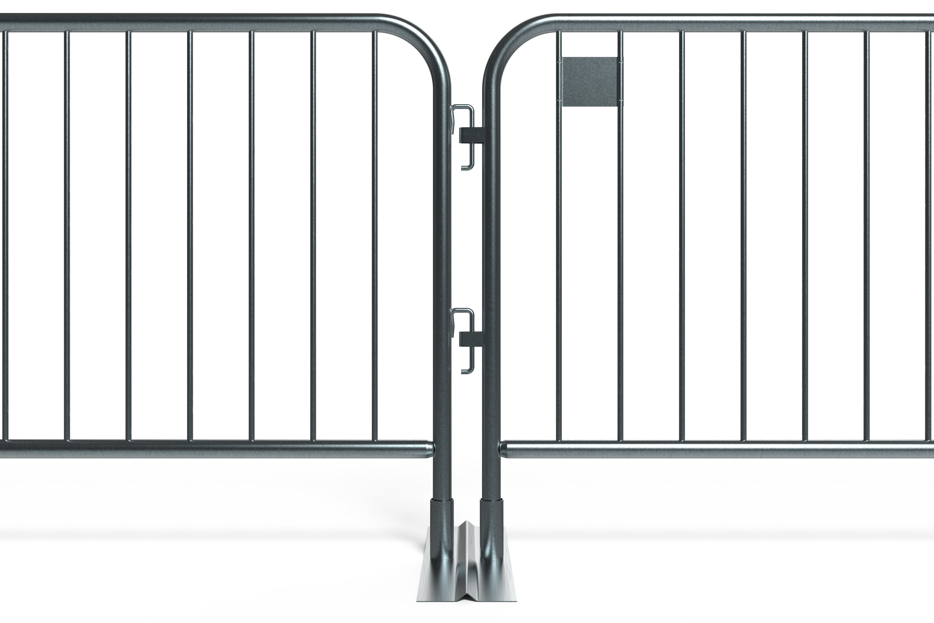 Connected Metal Barricades