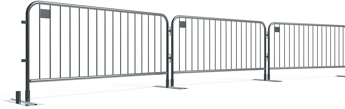 Metal Crowd Barrier Connected